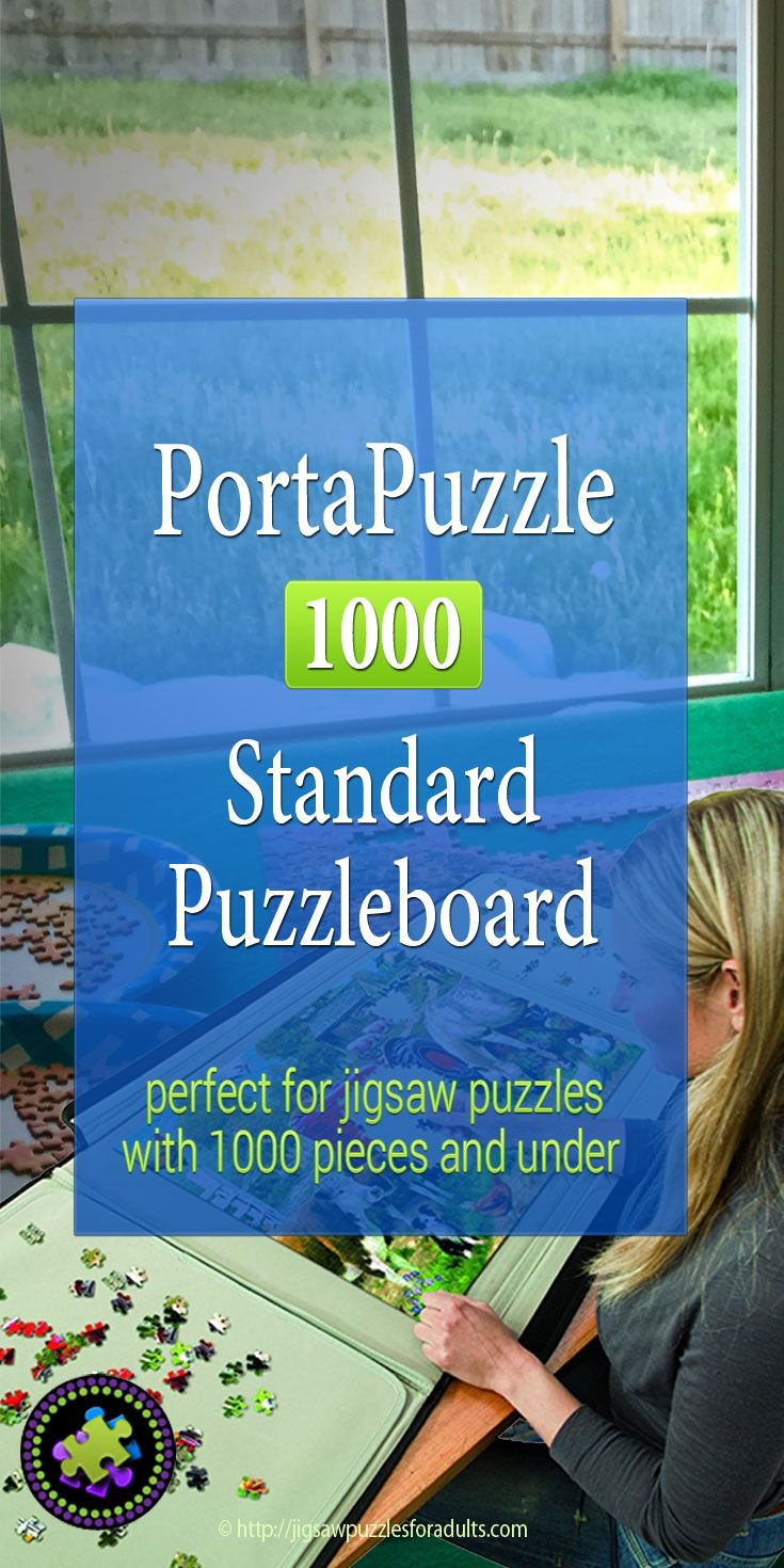 PortaPuzzle Standard Puzzleboard 1000 is the ideal solution for jigsaw puzzles that are 1000 pieces and under! This jigsaw puzzle board is a must have for keeping your puzzles safe and organized.