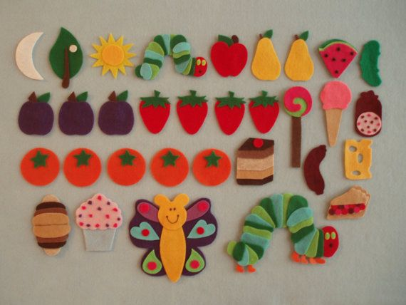 The Very Hungry Caterpillar Felt Board Story/Hungry Caterpillar Felt/Felt Board Stories/Flannel Board Stories//Felt Set/Teaching Resource