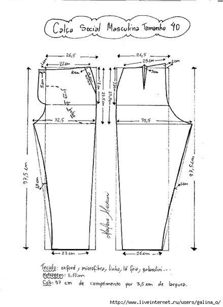 Como hacer un pantalon de vestir para hombre01                                                                                                                                                     Más