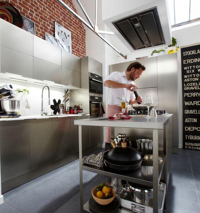 32 best cuisine Leroy images on Pinterest Composition, Kitchen - pose d une hotte decorative
