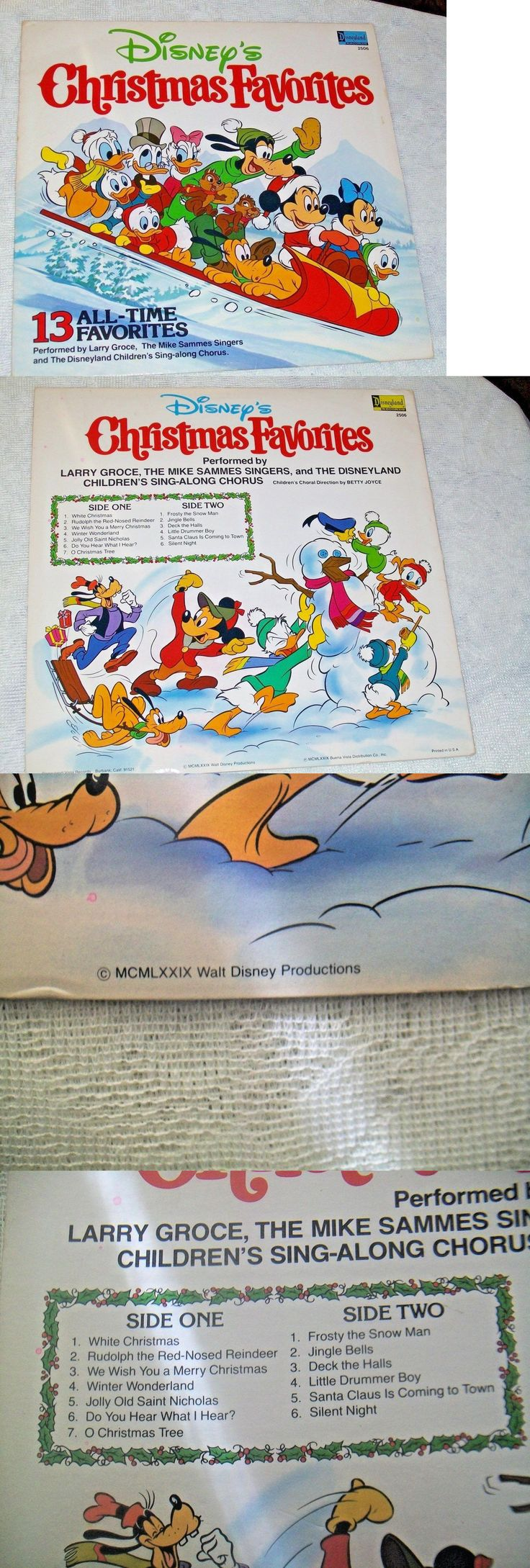 Christmas Songs And Album: 1979 Disneys Christmas Favorites 13 Song Vinyl Lp - Disneyland Record BUY IT NOW ONLY: $10.0