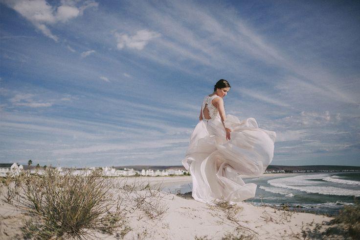 Chiffon wedding dress with long train.  MIA - Dress by Janita Toerien - Photo by Jani B - www.janitatoerien.co.za (2).jpg