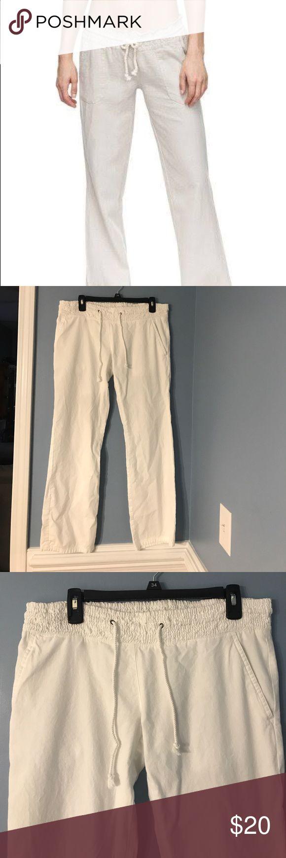 Hurley Linen White Beach Pants Adorable and comfortable Hurley white linen beach pants. Never worn, like new! Hurley Pants