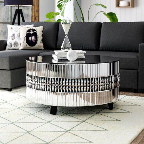 Willa Arlo Interiors Alexa Coffee Table Steel Coffee Table Mirrored Coffee Tables Table