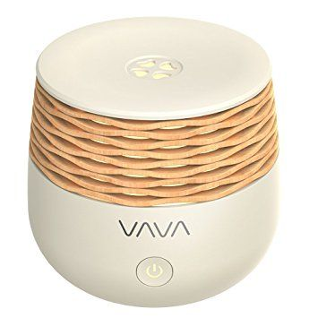 Portable Diffuser, VAVA Bamboo Looking Aroma Diffuser, with USB Charging for Laptop and Portable Charger, Essential Oil Diffuser for Car (30mL, 3-6 Hours Working Time, Waterless Auto Shut-off)