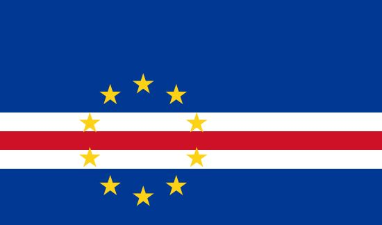 Flag of Cape Verde / Capital city: Praia / Continent: Africa