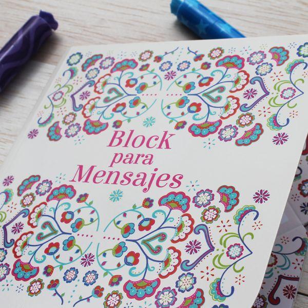 Block para mensajes grande. Disponible en www.hojas.com.co