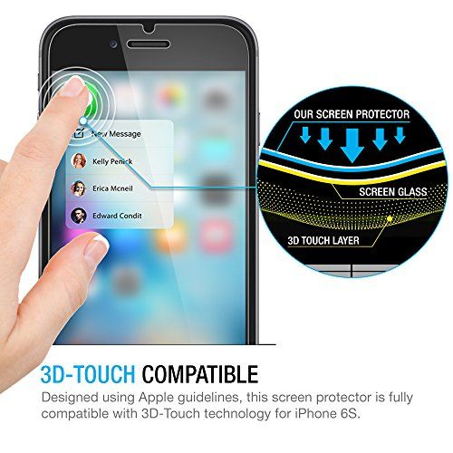 iPhone 6S Screen Protector, Maxboost® iPhone 6 6S Glass Screen Protector [3D Touch Compatible - Tempered Glass] 0.2mm Screen Protection Case Fit [Lifetime Warranty] [DO NOT FIT iPhone 6/6S Plus] - http://www.rekomande.com/iphone-6s-screen-protector-maxboost-iphone-6-6s-glass-screen-protector-3d-touch-compatible-tempered-glass-0-2mm-screen-protection-case-fit-lifetime-warranty-do-not-fit-iphone-66s-plus/