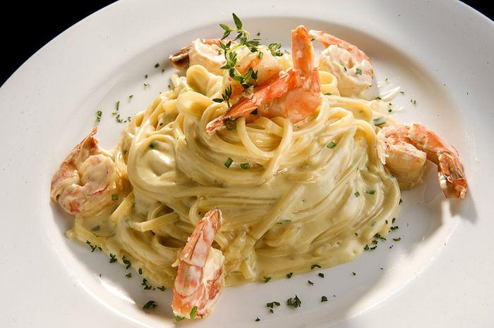 Spaguetti chipotle y camarones