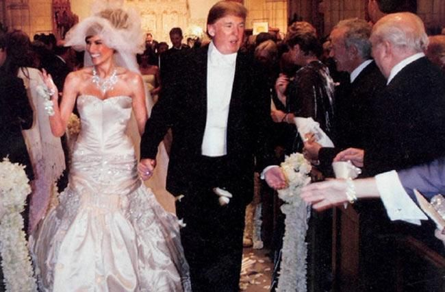 Donald Trump's wife Melania Knauss got married in a stunning wedding dress, get some bridal inspiration from Donald Trump's wife Melania Knauss's bridal look.