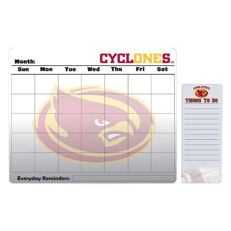 Iowa State Cyclones Dry Erase Calendar & To-Do List Pad Set, Multicolor