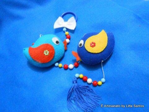 Pendente pássaros À venda em e_artesanato@hotmail.com