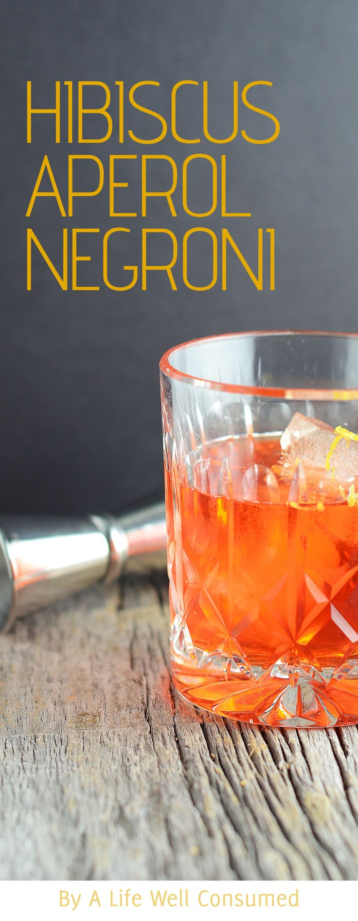 A twist on the classic, this Hibiscus Aperol Negroni is a delicious bitter drink. The floral hint from the hibiscus gives an it more depth.