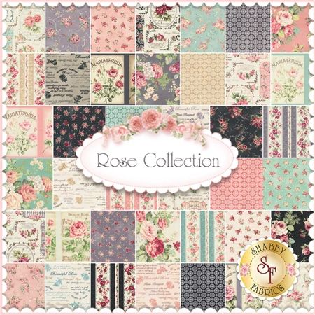 Rose Collection is by Quilt Gate Fabrics. This collection will feature 40 SKUs. Expected Arrival Date Of 2015