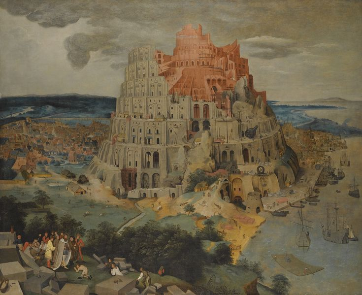 Pieter Brueghel the Younger BRUSSELS 1564 - 1637/8 ANTWERP THE TOWER OF BABEL oil on oak panel   145 by 176.5 cm.; 57 by 69 1/2 in.