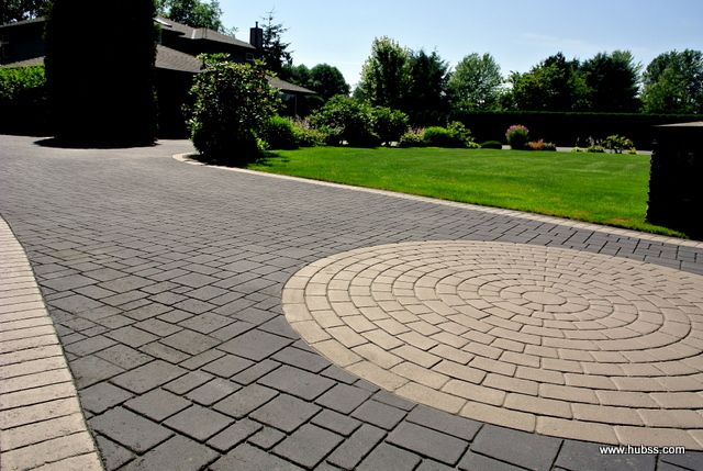 Decorative Driveway using Stamped Asphalt in Surrey, BC