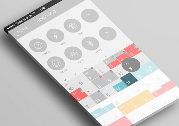 Clue – App Redesign Concept by Luca Fontana, via Behance