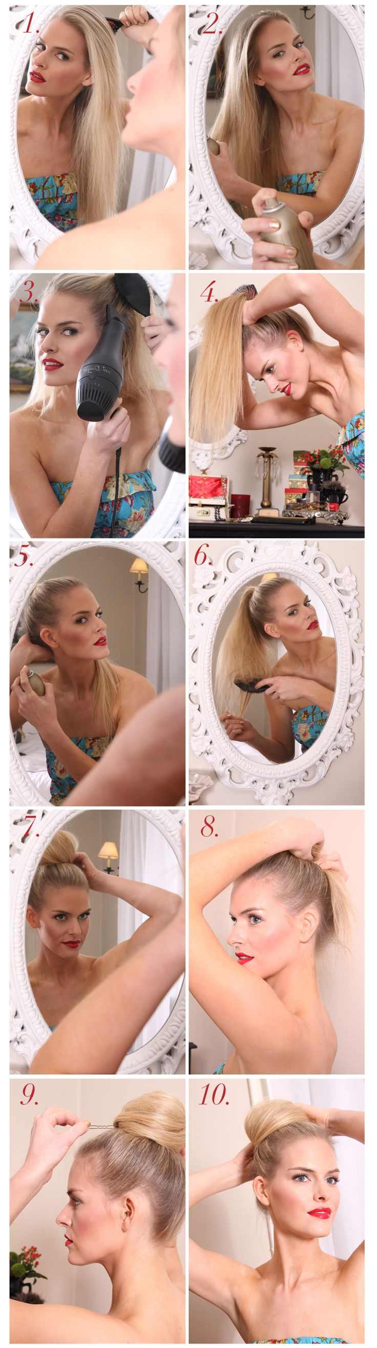 """The easiest """"carrie bradshaw"""" chignon tutorial. My fav look, day or night!"""