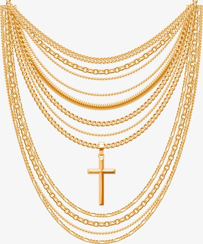 Vector Gold Necklace Golden Necklace Adornment Jewelry Png And