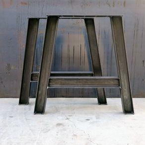 Metal Table Legs I-Beam A Shape by Jesus De Loera