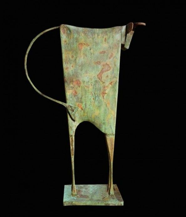 Artists. Carlos Mata. Toro Talpio. Bronze. Absolute Art Gallery.