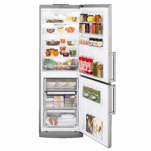Counter Depth Bottom Freezer Refrigerator With 3 Spillproof Glass Shelves,  ClearLook Door Bins, TurboFreeze Setting, Slide Out Freezer Bins And Door  Alarm