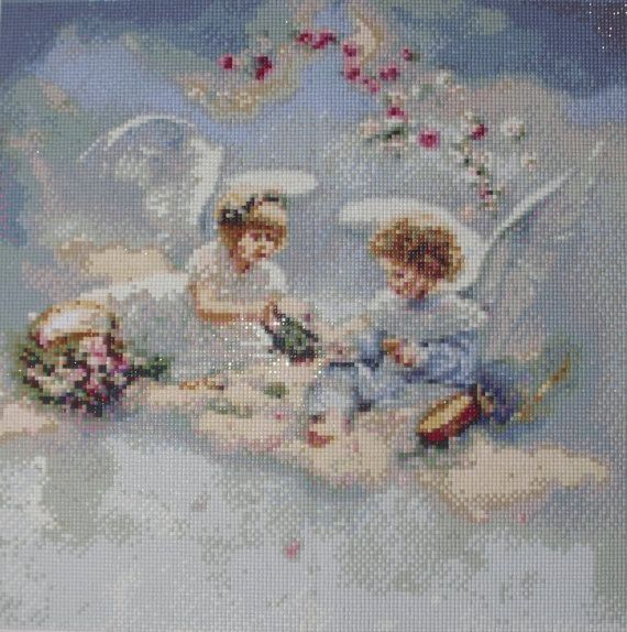 Angel Flower - Diamond Painting Home Decoration Finished Completed Wall Decor Embroidery Cross Stitch Rhinestone Needlework Mosaic