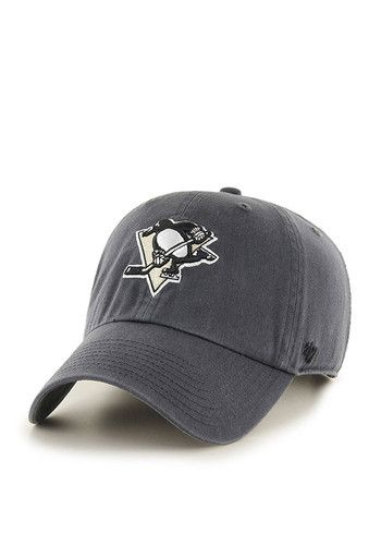 This Pittsburgh Penguins Grey Adjustable Hat features a team logo embroidered on the front. The adjustable hat completes the perfect outfit on gameday. Go Penguins!