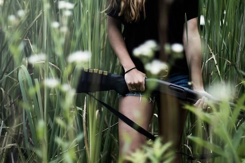 She moved confidently through the field towards the wood line, the rifle staying well beneath the height of the grass. the abductor started his next victim, but would receive the shock of his life.