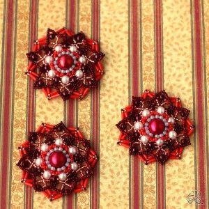 vánoční ozdoby červené velké