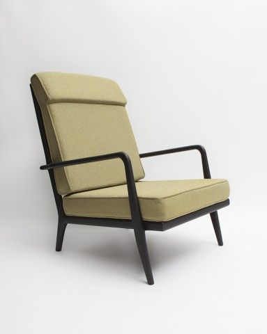 High rail back lounge chair by Smilow Furniture | reGeneration