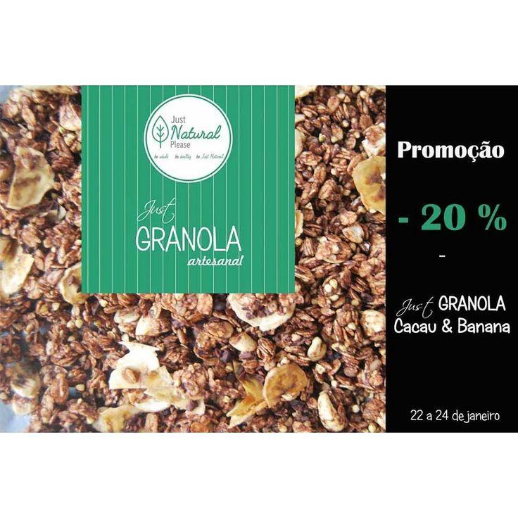 Nova promoção na @justgranola.shop  Este fim de semana rende-te ao cacau puro e encomenda a tua #justgranola #cacauebanana com - 20 % de desconto!  #justgranolashop #jusgranola #granola #granolabio #granolaartesanal #granolanatural #granolasaudavel #granolafit #granolavegana #vegangranola #granolalovers #justgranolalovers #chocolatelovers #promocao #saldos #desconto by justgranola.shop