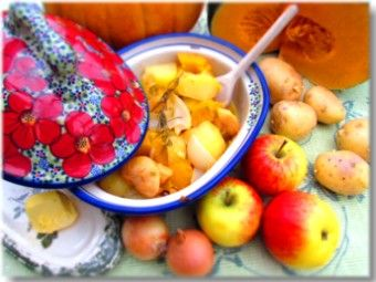 Pumpkin vegetable pot roast