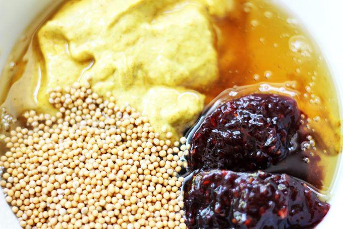 Spicy Brown Mustard, sweet Honey & Raspberry Preserves make this Raspberry Honey Mustard Dip ADDICTING! A Harry&David all-time favorite!