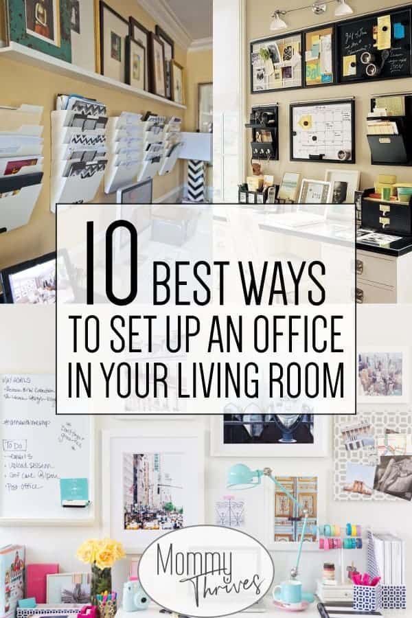 10 Creative Living Room Office Ideas Mommy Thrives Living Room
