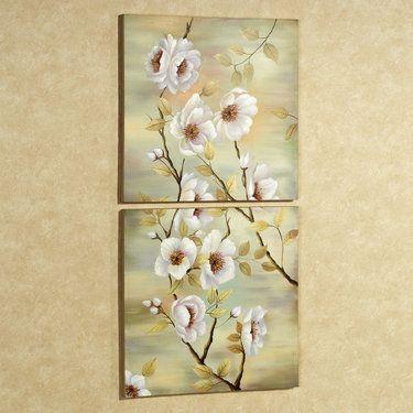 Dogwood Handpainted Canvas Wall Art Set