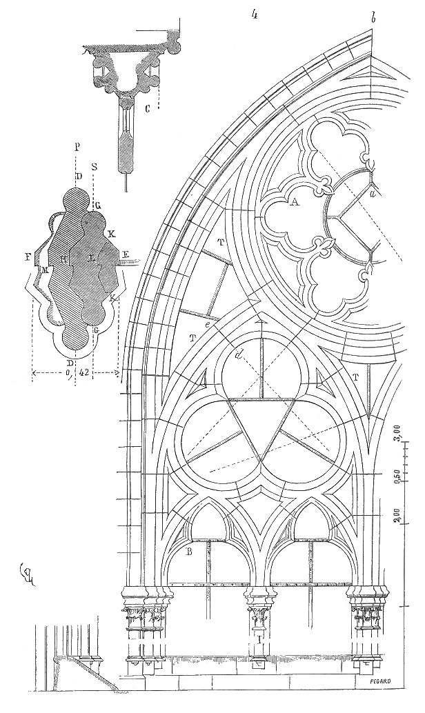 Meneaux fenetre cathedrale Amiens 2