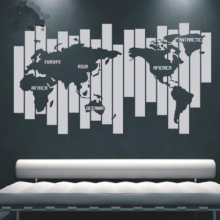 World Map Wall Decals U2013 WallDecal Part 89