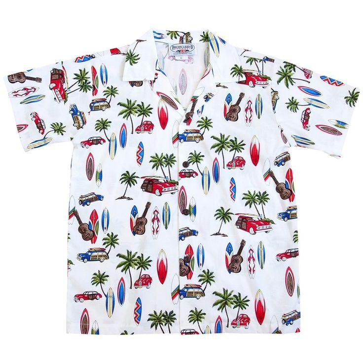beach time white boy hawaiian shirt