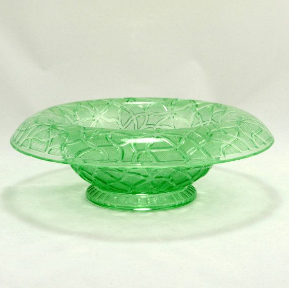 Imperial Glass Tree of Life Rolled Edge Console Bowl Vtg