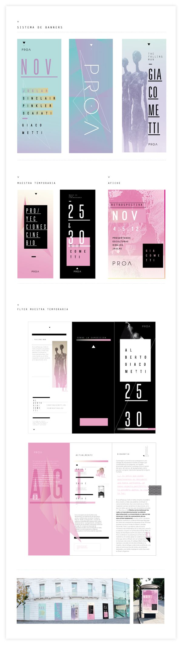 FUNDACIÓN PROA by Alejandra Tramontte, via Behance FLAT DESIGN