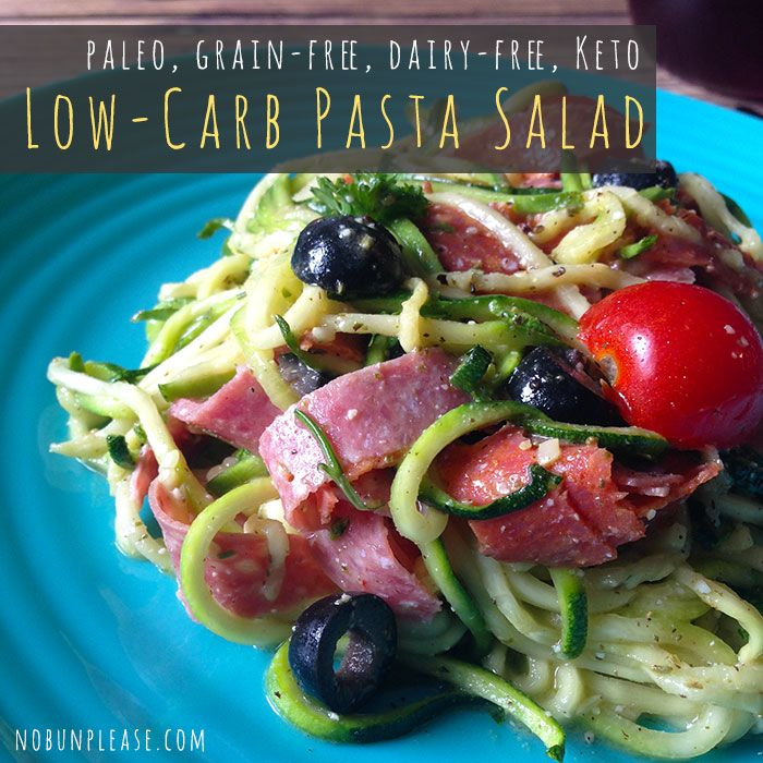 Low Carb Pasta Salad shared on https://www.facebook.com/LowCarbZen