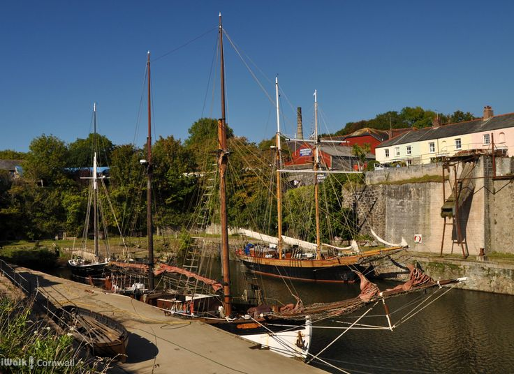 Tall ships at Charlestown, Cornwall