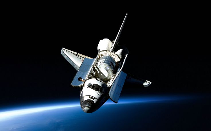 Fahrzeuge Space Shuttle Discovery  Discovery Raumfähre Satellite Weltraum Wallpaper