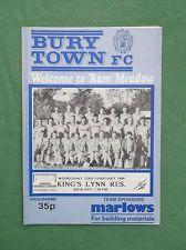 Bury Town v King's Lynn Reserves Wed 22nd Feb 1989