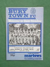 Bury Town v King's Lynn Reserves Wed 22nd Feb 1989