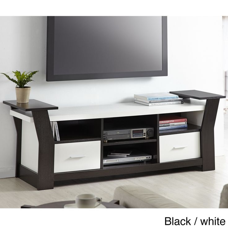 Furniture Of America Skyler Contemporary White/ Cappuccino TV Console    Overstock™ Shopping   Great Deals On Furniture Of America Entertainment  Centers