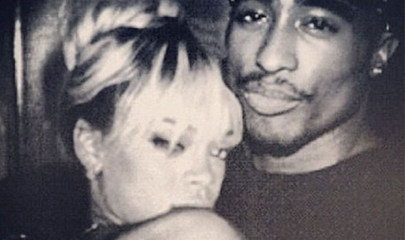 An image claiming to be of Tupac and Rihanna going viral online