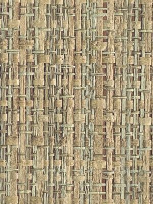 Master Bedroom Accent Wall Rattan Grasscloth Wallpaper