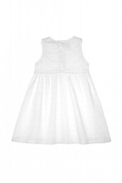 Enfant Cotton Spot Embroidery Singlet Dress